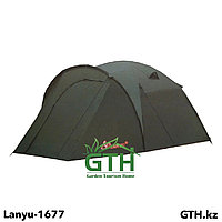Палатка 3-х местная Lanyu 1677 - двухслойная палатка с просторным тамбуром. Швы проклеены.