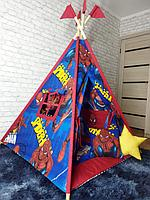 Детская палатка вигвам 4х гранный Человек Паук