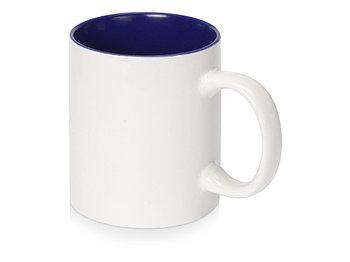 Кружка Sublime Color XL для сублимации 440мл, белый/синий
