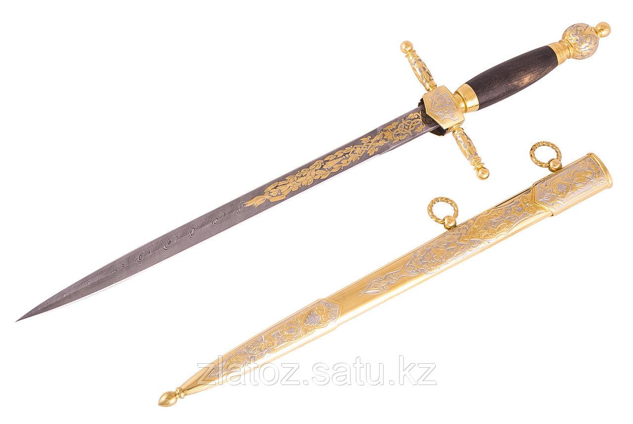 Нож из дамасской стали ручной работы Адмиральский - Купить в Казахстане - фото 3