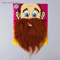 Карнавальная борода, на блистере, тёмная