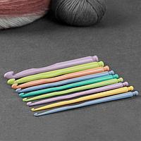 Набор крючков для вязания, d = 2,5-10 мм, 15 см, 9 шт, цвет разноцветный