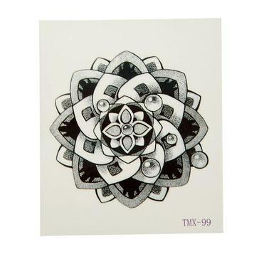 """Татуировка на тело """"Орнамент мехенди"""" 5,3х6,3 см"""