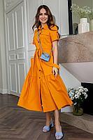 Женское летнее хлопковое оранжевое платье Daloria 1799 оранжевый 44р.