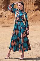 Женское осеннее платье Golden Valley 4775 мультиколор 46р.