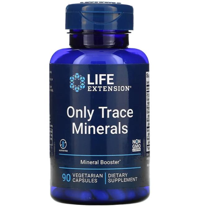 Life Extension, Только микроэлементы, 90 вегетарианских капсул