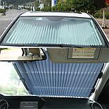 Выдвижная складная шторка на лобовое стекло автомобиля., фото 4