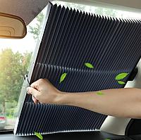 Выдвижная складная шторка на лобовое стекло автомобиля.