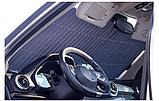 Выдвижная складная шторка на лобовое стекло автомобиля., фото 6