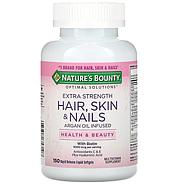 Nature's Bounty, Optimal Solutions с повышенной силой действия,для здоровья волос, кожи и ногтей, 150 капсул, фото 2
