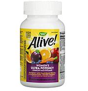 Nature's Way, Alive! Once Daily, полный комплекс высокоэффективных мультивитаминов для женщин, 60 таблеток, фото 4