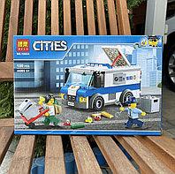 Конструктор Bela Cities 10654 Ограбление инкассаторской машины аналог Лего