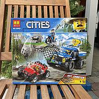 Конструктор Bela Cities 10862 Погоня по грунтовой дороге Cities аналог Лего