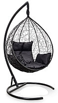 Подвесное кресло-кокон SEVILLA черное, фото 2