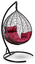 Подвесное кресло-кокон SEVILLA черное, фото 3