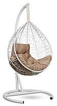 Подвесное кресло-кокон SEVILLA комфорт белое, фото 3