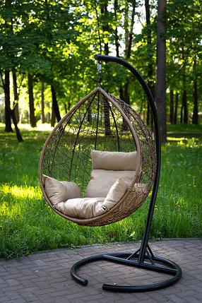 Подвесное кресло-кокон SEVILLA горячий шоколад, фото 2