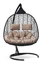 Подвесное кресло-кокон SEVILLA TWIN черное, фото 3