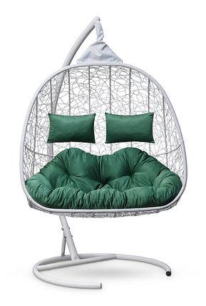 Подвесное кресло-кокон SEVILLA TWIN белое, фото 2