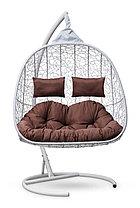 Подвесное кресло-кокон SEVILLA TWIN белое, фото 3