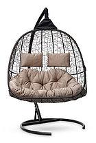 Подвесное кресло-кокон SEVILLA TWIN коричневое, фото 3