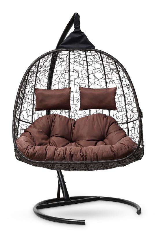 Подвесное кресло-кокон SEVILLA TWIN коричневое