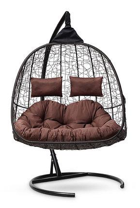 Подвесное кресло-кокон SEVILLA TWIN коричневое, фото 2