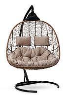 Подвесное кресло-кокон SEVILLA TWIN горячий шоколад