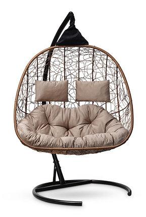 Подвесное кресло-кокон SEVILLA TWIN горячий шоколад, фото 2