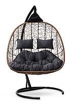 Подвесное кресло-кокон SEVILLA TWIN горячий шоколад, фото 3