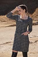 Женское осеннее черное платье Golden Valley 4757 серый 48р.