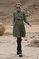 Женское осеннее из вискозы зеленое платье Golden Valley 4772 зеленый 46р.
