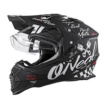 Шлем кроссовый со стеклом Sierra II TORMENT, L