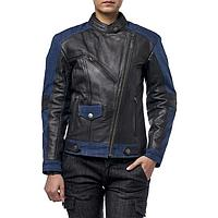 Куртка женская кожаная-джинс Teacher Jeans, XL