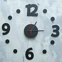Часы настенные DIY, арабские цифры, плавный ход, чёрные, d=70-80 см
