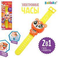 Электронные часы «Хитрый лис», цвет оранжевый