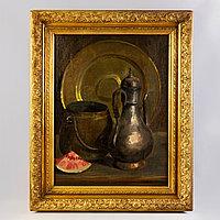 «Натюрморт с восточным кувшином» Автор - Max Jung (1882-1913) Восточная Пруссия. Конец XIX - начало ХХ века