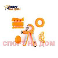 Набор кистевых эспандеров 5 в 1 (оранжевый)