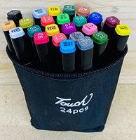 D17-224 Маркер Touds маркер 24шт в сумочке разные цвета 17*11см