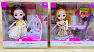 D17-HY8216-1 Кукла качест с коляской,качеля,гаршок 4шт в уп., цена за 1шт 18*17см, фото 2