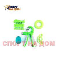 Набор кистевых эспандеров 5 в 1 (зелёный)