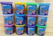 6855 Кинетический песок в баночке +фигурка (7*7см) 6цветов из 12шт, цена за 1шт, фото 2