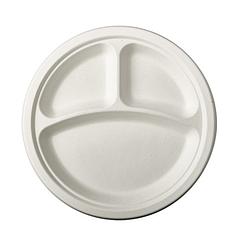 Секционная одноразовая тарелка 260 мм