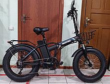 """Электровелосипед 48v 500w (max 1000w), аккум. Li-ion 48v 15 A/H.  Складной. Колеса 20*4""""."""