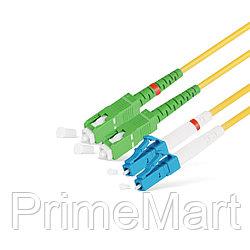 Патч Корд Оптоволоконный SC/APC-LC/UPC SM 9/125 Duplex 3.0мм 1 м