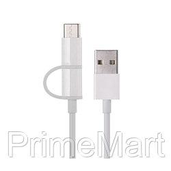 Интерфейсный кабель Xiaomi 100cm MICRO USB and Type-C Белый