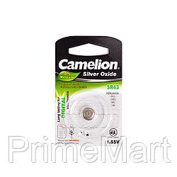 Батарейка CAMELION Silver Oxide SR43-BP1(0%Hg)