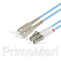 Патч Корд Оптоволоконный SC/UPC-LC/UPC MM OM3 50/125 Duplex 3.0мм 1 м