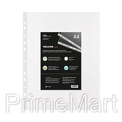 Файл-вкладыш пластик. Deluxe Clear A4100M, A4, 100 мкм. (пакет 100 файлов)