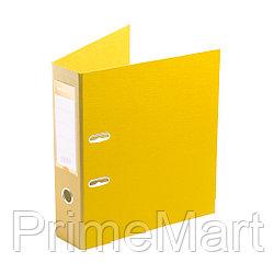 "Папка–регистратор Deluxe с арочным механизмом, Office 3-YW5 (3"" YELLOW), А4, 70 мм, желтый"